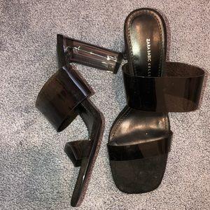 Zara Black Heel Sandals
